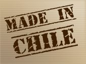 Made In Chile Means South America And Commercial — Stock Photo