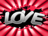 Love Sign Represents Compassionate Devotion And Signboard — Stockfoto