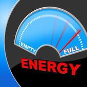 Energy Full Means Gauge Brimming And Meter — ストック写真