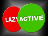 Active Sign Indicates Action Display And Motivation — Stock Photo