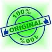 Hundred Percent Original Represents Bona Fide And Attested — Stock Photo