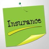 Insurance Message Represents Send Communication And Financial — Stock Photo