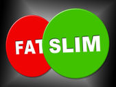 Slim Sign Means Weight Loss And Dieting — ストック写真