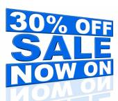 Thirty Percent Off Means At The Moment And Cheap — Stock Photo