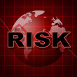 Постер, плакат: Risk Graph Shows Infochart Beware And Risky