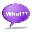 What Message Means Frequently Asked Questions And Answer — Stock Photo #57496115