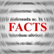 Facts Definition Shows Answers Information And True — Stock Photo #57496325