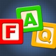 Faq Kids Blocks Means Frequently Asked Questions And Counselling — Stock Photo #57497785