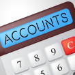 Accounts Calculator Indicates Balancing The Books And Accounting — Stock Photo #57497897