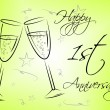 Happy First Anniversary Indicates Celebration Celebrations And Remembrance — Stock Photo #57497977
