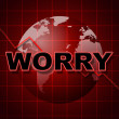 Постер, плакат: Worry Graph Shows Uneasiness Data And Diagram