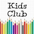 Kids Club Pencils Shows Membership Childhood And Social — Stock Photo #57498943