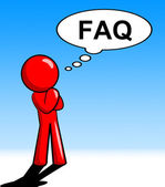 Character Thinking Faq Shows Faqs Support And Answer — Stock Photo