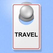 Travel Sign Represents Go On Leave And Explore — Stock Photo