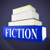 Fiction Book Indicates Imaginative Writing And Books — Stock Photo