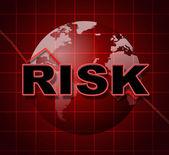 Risk Graph Shows Infochart Beware And Risky — Stock Photo