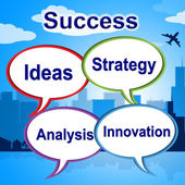 Success Words Means Triumphant Innovation And Winner — Stock Photo