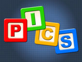 Pics Kids Blocks Shows Child Images And Youngster — Stock Photo
