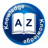 Knowledge Badge Means Educate Proficiency And Educating — Stock Photo