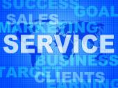 Service Words Means Support Information And Knowledge — 图库照片