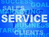Service Words Means Support Information And Knowledge — Zdjęcie stockowe