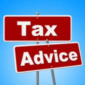 Tax Advice Signs Represents Help Faq And Instructions — Stock Photo