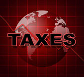 Taxes Graph Means Duty Statistical And Infograph — Stock Photo