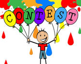 Contest Balloons Shows Youngster Children And Decoration — Stock Photo