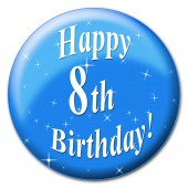 Happy Eighth Birthday Represents Congratulation Congratulations And Celebrate — Stock Photo