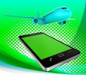 Book Flights Represents Order Reserving And Plane — Stock Photo