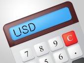 Usd Calculator Represents American Dollars And Accounting — Stock Photo
