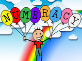 Numeracy Balloons Represents Numeric Count And Numeral — Stock Photo