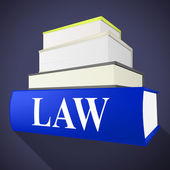 Law Book Shows Legality Lawyer And Court — Stock Photo