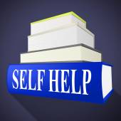 Self Help Book Represents Info Information And Counselling — Stock Photo