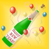 Happy New Year Means Celebrate Joy And Partying — Stock Photo