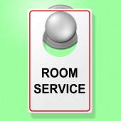 Room Service Sign Represents Place To Stay And Cafe — Stock Photo