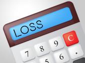 Loss Calculator Represents Commerce Losing And Finances — Foto Stock