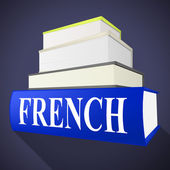 French Book Indicates Translate To English And Euro — Stock Photo