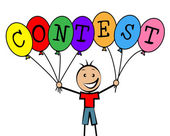 Contest Balloons Means Kids Challenge And Competitiveness — Stock Photo