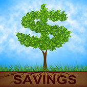 Savings Tree Shows United States And Banking — Foto de Stock
