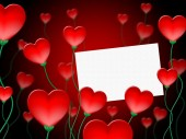 Heart Message Represents Valentine Day And Communication — Stock Photo