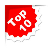 Top Ten Sticker Shows Best Finest And Rated — Stock Photo