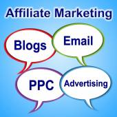Affiliate Marketing Means Join Forces And Associate — Stock Photo