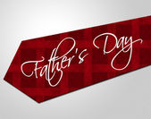 Fathers Day Tie Represents Parenting Cheerful And Fatherhood — Stock Photo