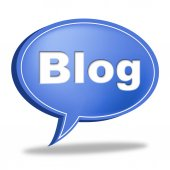 Blog Message Means World Wide Web And Blogging — Stock Photo