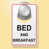 Bed And Breakfast Indicates Place To Stay And Accommodation — Stock Photo