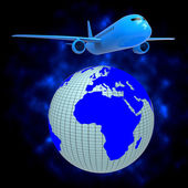 World Plane Shows Travel Guide And Air — Stock Photo