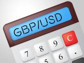 Gbp Usd Calculator Represents British Pound And Banking — Stock Photo