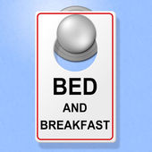 Bed And Breakfast Means Place To Stay And Cuisine — Stock Photo