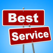 Best Service Signs Means Number One And Advice — Stock Photo